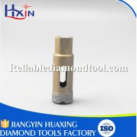 China Brazed Diamond Core Drill Bit Diameter for 20mm for Stone/Ceramic/Glass Golden wholesale