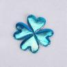 China Glitter Heart Ultrasonic Embossing Flowers Crafts Sparkling Blue Heart Padded Glitter wholesale