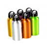 China Aluminium Drinking Water Bottle Screw Cap and Carabineer 400ml Sports Hiking wholesale