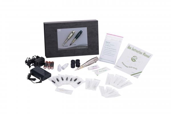 Quality Original Permanent Makeup Tattoo Machine Set Champagne And Dark Green Color for sale