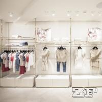 China stainless steel clothes shop furniture/decoration clothes stores wholesale
