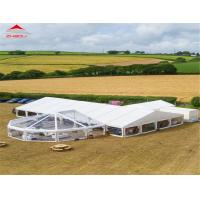China Aluminum Polygonal Outdoor Event Tent With Transparent Glass Windows on sale