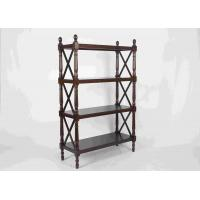 China 144CM Walnut Soild Wooden Book Rack Four Tiers For Living Room Corner Storage wholesale