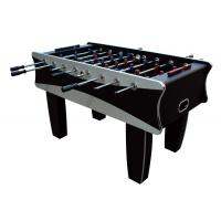 China Black / Silver Indoor 5FT Soccer Table MDF Football Table For Family 61 KG wholesale