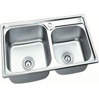 China Kitchen Standard Stainless Steel Sink Bowl With Drainers , Sliver Color wholesale