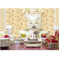 China Fashion Flower Embossed Wall Covering Italy Style Embossed Floral Wallpaper wholesale
