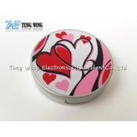 China Logo Printing Pocket Makeup Mirror Cosmetic Mirror With Sound wholesale