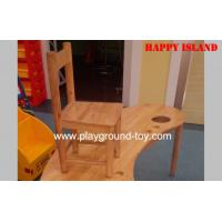China Hardwood Kindergarten Classroom Furniture , Solid Wooden Childrens Chairs wholesale