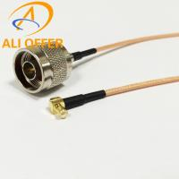 China High Quality MCX Male Right Angle Switch N Male Plug Pigtail with 15cm RG316 Cable,MCX to N Single Pigtail wholesale
