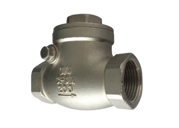 Quality 1 Inch 200 Psi Stainless Steel Check Valve Npt / Bsp / Bspt Threaded for sale