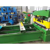 China Sheet Crimped Metal Roofing Roll Forming Machine With PLC Control System , 0.7mm Thick wholesale