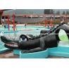 China Small Fiberglass Water Pool Slides For Kids , Water Park Equipment Crocodile Slide wholesale