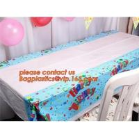 China Creative Boys Girls Birthday Party Tablecloth Plastic Disposable Outdoor Kids Supplies Accessories, happy birthday party wholesale