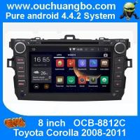 China Ouchuangbo Car DVD Stereo System for Toyota Corolla 2008-2011 Android 4.4 3G Wifi BT Audio wholesale