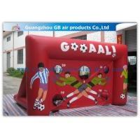 China Red Funny Boys Inflatable Football Game / Inflatable Sports Arena For Ball Shooting on sale