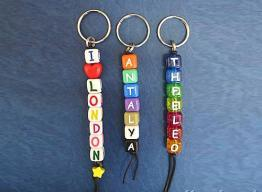 Quality Plastic Dice Keychain for sale