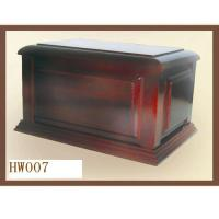 Buy cheap Wooden adult urns, funeral urns box, mahogany color from wholesalers