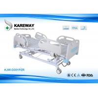 Three Functions Electric Care Hospital Bed Cold Steel Plate Central Locking for sale