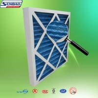 China Synthetic Fiber Pleated Panel Furnace Pre Filter With Paper Frame 16x25x1 wholesale