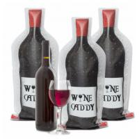 China Clear Travel PVC Wine Bottle Chiller Bag , Protective Bubble Wine Sleeve / Skin wholesale