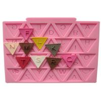 China Harmless Letter Flag Lace Silicone Cake Molds for Cake Decorating / Chocolate Baking on sale