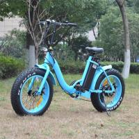 China Weight ≤ 55kg Womens Electric Bike High Braking Performance Light Blue Color wholesale