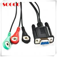 China DB 9 To 3 Snaps Electrode Lead Cable Monitor Ecg Patient Cable Assemblies wholesale