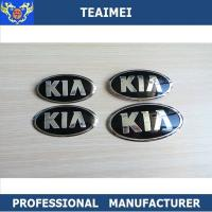 Quality Custom Heat Resistant Chrome KIA Automobile Emblems Logos / Auto Names And Logos for sale