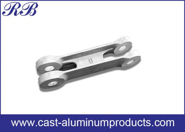 Quality Low Pressure Die Casting Cast Aluminum Products Door Link 371x66x80mm for sale
