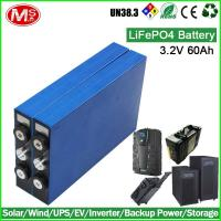 China High power LiFePo4 3.2v 60ah battery cell wholesale