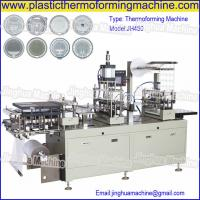 China CE Standard Automatic cup lid/cover thermoforming Machine for paper cut, plastic cup on sale