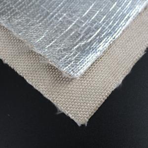 China Dimensional Stability Fiberglass Fabric Cloth 18um Aluminum Foil Coated AL2025 wholesale