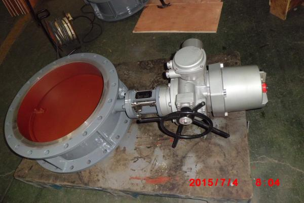 Quality Gear / Pneumatic / Electric Carbon Steel Butterfly Valve for High Temp Gas for sale