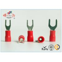China Spade Fork Lug Plastic Crimp Insulated Wire Terminals SVL1.25-4 wholesale