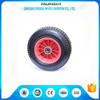 China 4 Ply Rating Pneumatic Rubber Wheels 16inches Size Plastic Rim 170KG Loading wholesale