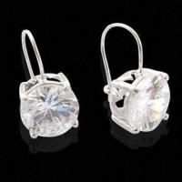 China Cute Swarovski Austrian Crystal Stud CZ Jewelry Solid Sterling Silver Earrings, Classic Design wholesale
