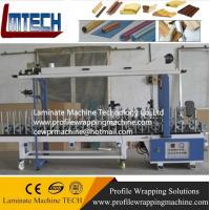 China aluminium profile sliding wardrobe door profile wrapping machine on sale
