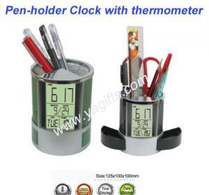 China Multi-Color Light Pen-Holder Clock wholesale