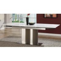Pure White Artificial Marble Dining Tables Modern Marble Top Kitchen Table