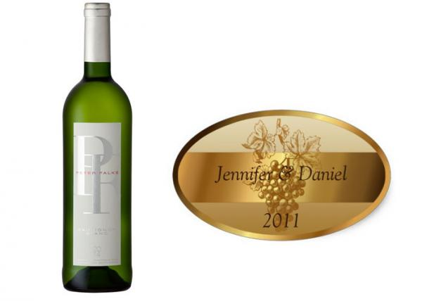Quality OEM Printing Luxury Paper Custom Sticker Labels , Wine Bottle Label Stickers for sale