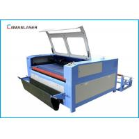 China Auto Feeding UP Down Table 100w 120w Wood Fabric Leather Cnc Laser Cutting Machine wholesale