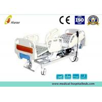 China Professional Steel Punching Hospital Electric ICU Bed With ABS Foldable Guardrails (ALS-E508) wholesale