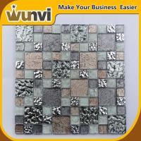 China Glass Mosaic Wall Tile Mirror Chip Blend Spa , Iridescent Mosaic Tiles on sale
