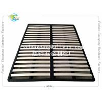 China Convenient Folding Metal Bed Frame With Wooden Slats Single / Double Size wholesale