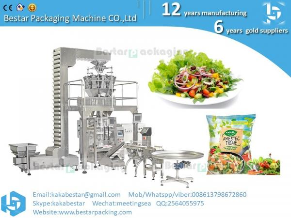 Quality Garden salad ,salad dish ,leafy  greens,mixed baby leaf ,baby leaf lettuce vacuum vertical packing machine for sale