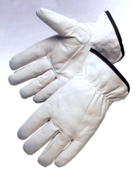 White no lining goatskin Leather Driving Glove
