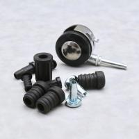 China 50 Mm 2 Inch Office Chair Swivel Casters / Slipstick Rubber Caster Wheels With Grip Ring wholesale