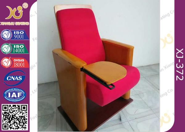Foshan Furniture Wooden Folded New Auditorium Chair with Writing Pad