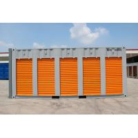 China steel storage container,20ft storage container  with  rolling shutter five doors, customised color,China wholesale