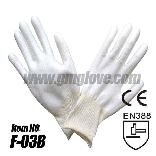 Quality White Polyurethane Coated Working Gloves for sale